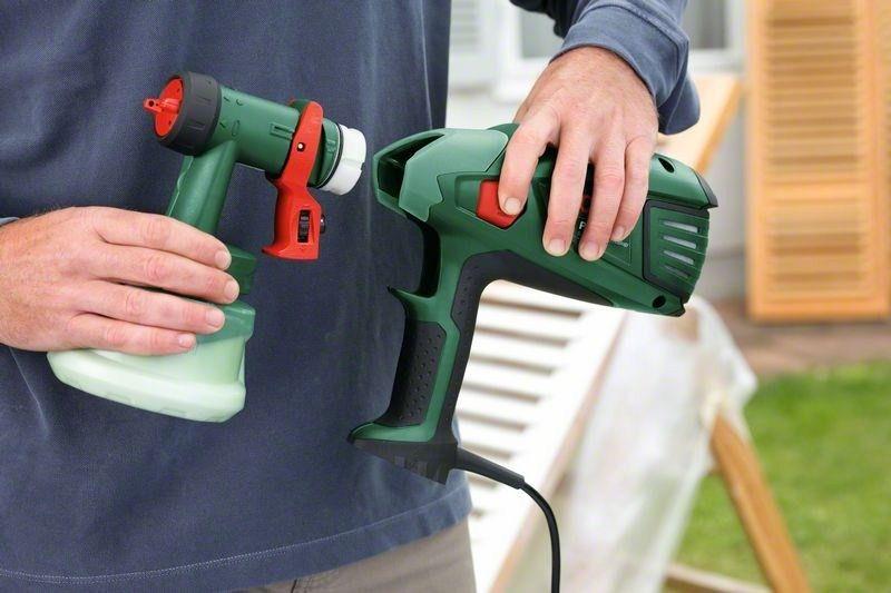 Bosch pfs 55: электрический краскопульт и его применение